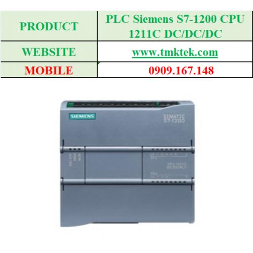 PLC Siemens S7-1200 CPU 1211C DC/DC/RLY