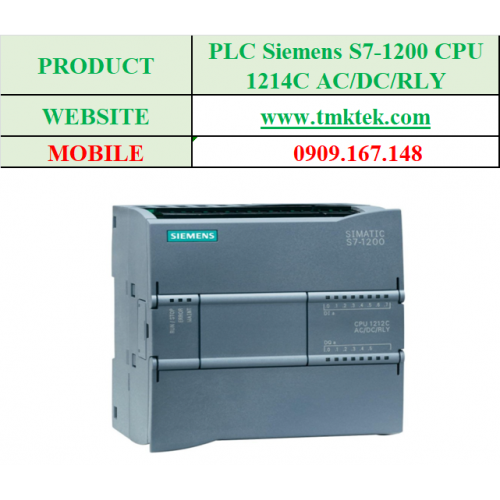 PLC Siemens S7-1200 CPU 1214C AC/DC/RLY