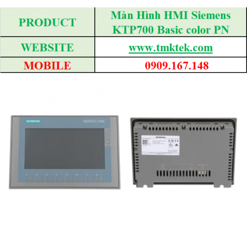 Màn hình HMI KTP700 Basic color PN