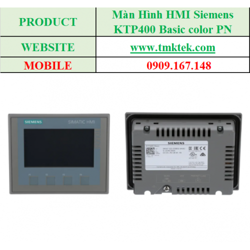Màn hình HMI KTP400 Basic color PN