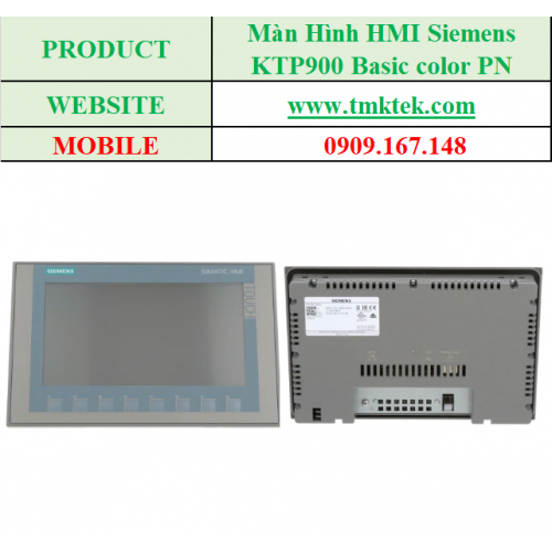Màn hình HMI KTP900 Basic color PN