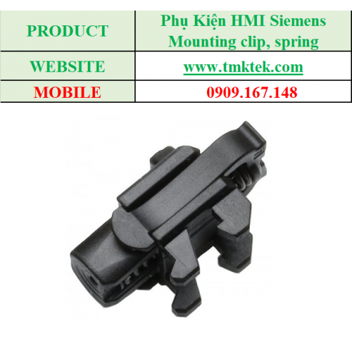 Mounting clip, spring