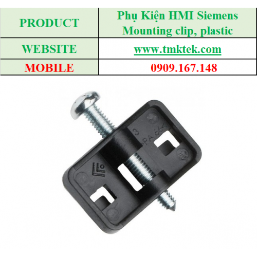 Mounting clip, plastic