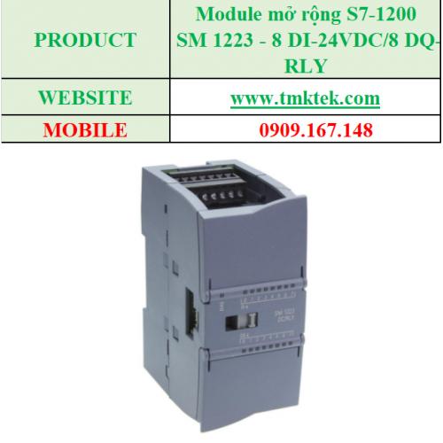 Module mở rộng SM 1223 - 8 DI-24VDC/8 DQ-RLY