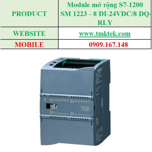 Module mở rộng SM 1223 - 16 DI-24VDC/ 16 DQ-RLY
