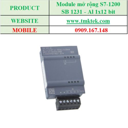 Module mở rộng Analog input SB 1231 - Al 1x12 bit