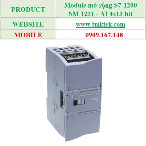 Module mở rộng Analog input SM 1231 - AI 4x13 bit