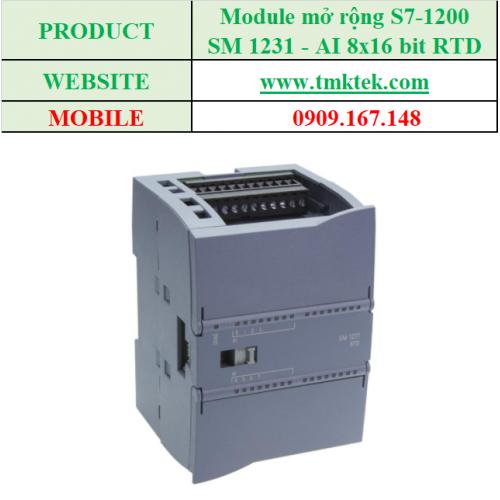 Module mở rộng Analog input SM 1231 - AI 8x16 bit RTD