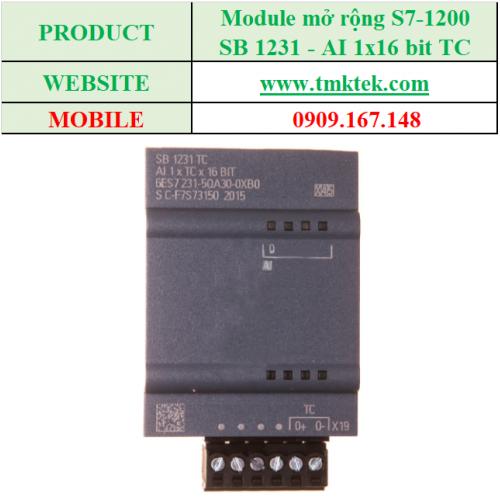Module mở rộng Analog input SB 1231 - AI 1x16 bit TC