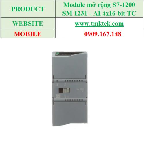 Module mở rộng Analog input SM 1231 - AI 4x16 bit TC