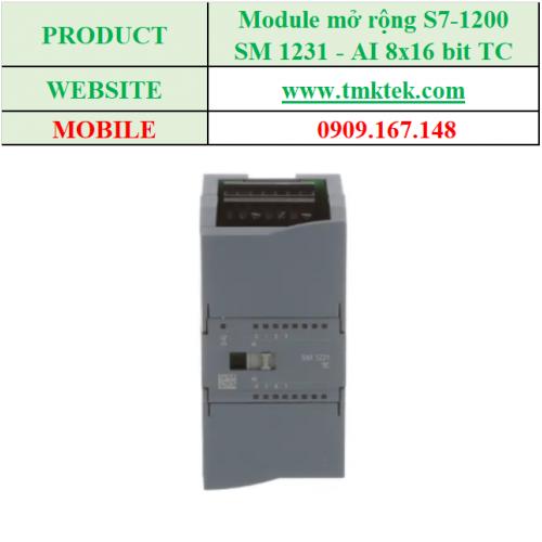 Module mở rộng Analog input SM 1231 - AI 8x16 bit TC