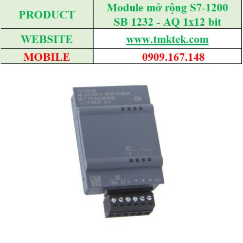 Module mở rộng Analog output SB 1232 - AQ 1x12 bit