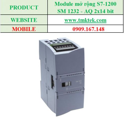 Module mở rộng Analog output SM 1232 - AQ 2x14 bit