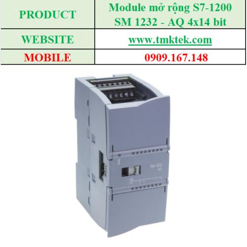Module mở rộng Analog output SM 1232 - AQ 4x14 bit