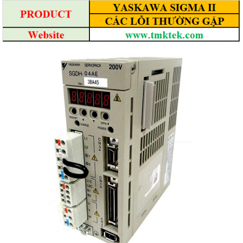 Các lỗi thường gặp của servo Yaskawa Sigma II