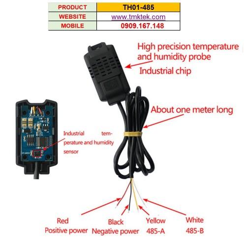 Cảm biến nhiệt độ độ ẩm TH01-485