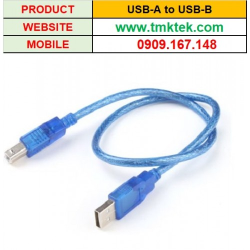 Cáp lập trình USB sang USB Type B 1.5M (Dây xanh)