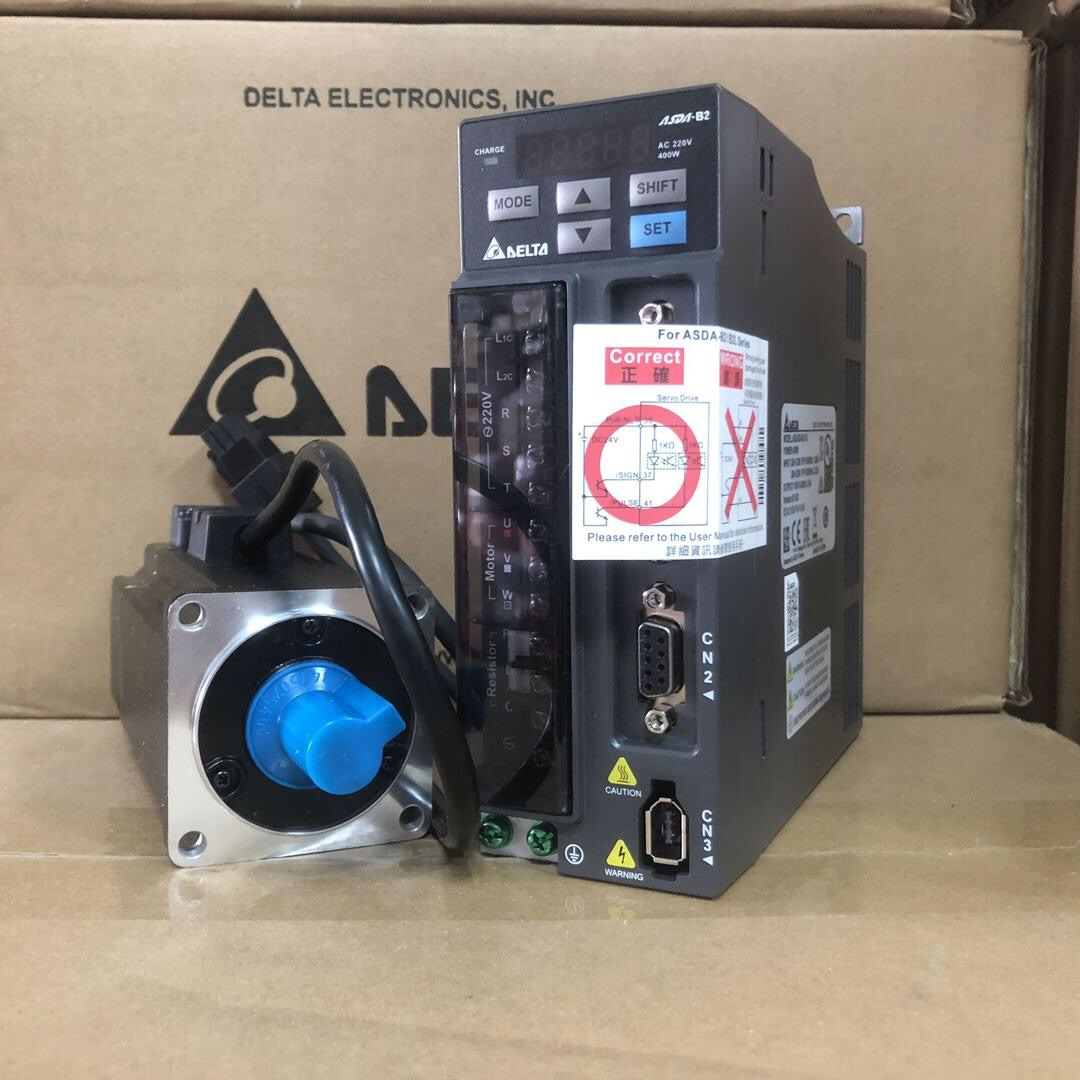 ECMA-C20604RS+ASD-B2-0421-B DELTA 400W 3000RPM 1.27NM ASDA-B2 AC SERVO KHÔNG THẮNG